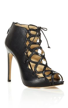 I love me some booties! Alexander Birman - Black Leather Crisscross Bootie