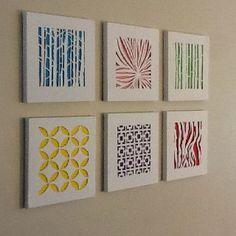 Cut canvas DIY project - No link just the idea