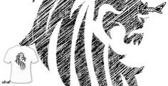 T-shirts - Design: Lion Tattoo Tribal Style - by: Denis Marsili