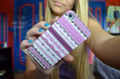 pink patterned iphone case.♡