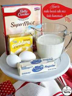 With a couple of substitutions you can make any boxed cake mix more moist and taste like it's homemade!