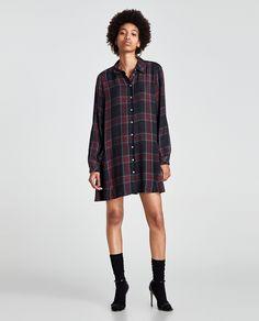 ZARA - WOMAN - CHECKED DRESS WITH POCKETS
