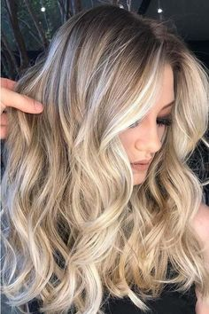 Cool Blonde with Shadow Roots