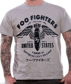 OFFICIAL Foo Fighters T Shirt Sonic Highways Eagle Gold Red Logo Wasting Light in Kleidung & Accessoires, Herrenmode, T-Shirts | eBay