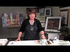 ▶ Linda Baker Watercolor Techniques- The Pouring Process-Part 1 - YouTube