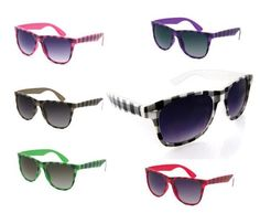 80's Style Vintage Wayfarer Style Sunglasses Very Popular (lots of colors and styles available): http://www.amazon.com/Vintage-Wayfarer-Sunglasses-Popular-available/dp/B003K0S6TO/?tag=monmak04-20