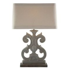 Amazon.com: Pair Molly French Country Flat Scroll Rectangle Table Lamp: Home & Kitchen