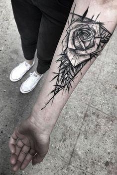 Inez Janiak flower t Forearm Tattoo Design, Forearm Tattoos, Body Art Tattoos, Tattoo Drawings, Rose Tattoos For Men, Tattoos For Women, Tattoos For Guys, Half Sleeve Tattoos Designs, Tattoo Designs Men