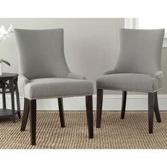 Shop for Safavieh En Vogue Dining Lester Granite Nailhead Dining Chairs (Set of 2). Get free shipping at Overstock.com - Your Online Furniture Outlet Store! Get 5% in rewards with Club O! - 15623304
