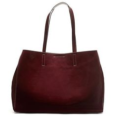 Banana Republic Larkin Tote Size One Size - Burgundy patent ($168) ❤ liked on Polyvore featuring bags, handbags, tote bags, red tote, pocket tote, red patent leather purse, red patent purse and red handbags