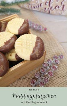 Rezept: Puddingplätzchen mit Vanillegeschmack und Schokolade | Tolle, leckere und einfache Weihnachtsplätzchen #xmas #plätzchen #advent #weihnachten