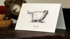 Fat Cat Gift Card -  Beautifully drawn luxury handmade on heavy textured card. FREE P&P for UK single card orders. by AlexEdwardJewellery on Etsy https://www.etsy.com/listing/230578722/fat-cat-gift-card-beautifully-drawn