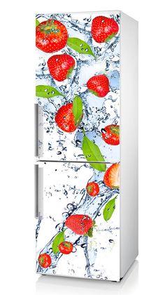 Removable Fridge Vinyl Sticker Strawberry by DesignStickersStore
