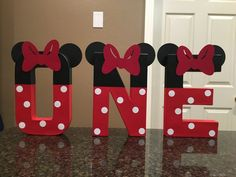 Minnie Mouse Custom Name Letters price is per letter Minnie Mouse Birthday Decorations, Minnie Mouse First Birthday, Mickey Mouse Birthday, Girl First Birthday, Mickey Minnie Mouse, Boy Birthday Parties, Disney Decorations, Birthday Ideas, Birthday Cake