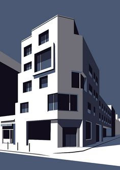 paris house | Maria Zaikina | Flickr Building Illustration, House Illustration, Digital Illustration, Architecture Concept Drawings, Art And Architecture, Graphic Design Art, Graphic Design Illustration, City Drawing, Background Drawing