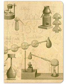 Illustrations of chemistry lab equipment and symbols make this dot grid journal the perfect eco-friendly place to take your field notes, class notes, or sketches. History Of Chemistry, Chemistry Art, Chemistry Gifts, Chemistry Lab Equipment, Mad Scientist Lab, Natural Philosophy, Dot Grid Notebook, Illumination Art, Chemical Structure