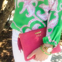A very pink & green St. Patrick's Day look!
