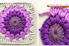 Transcendent Crochet a Solid Granny Square Ideas. Inconceivable Crochet a Solid Granny Square Ideas. Crochet Squares, Point Granny Au Crochet, Crochet Square Patterns, Crochet Motifs, Motifs Granny Square, Granny Square Pattern Free, Sunburst Granny Square, Granny Squares, Easy Crochet Projects