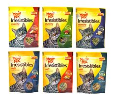 Meow Mix Irresistibles Cat Treats Variety Pack - 6 Flavors - 2.5 Ounces Each (6 Total Pouches) >>> Click image to review more details. (This is an Amazon affiliate link)