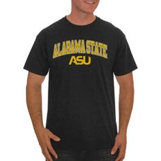 Ncaa Alabama State Hornets Men's Classic Cotton T-Shirt, Size: Medium, Black