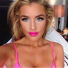 Big lashes, bold brows and pink lips Gorgeous Makeup, Pretty Makeup, Makeup Looks, Perfect Makeup, Gorgeous Blonde, Dead Gorgeous, Beauty Make-up, Beauty Hacks, Hair Beauty