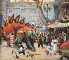 tenebracadaverxxx: James Gurney / Dinotopia.