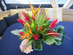 Tropical heliconia flowers from Good Moon Farm.