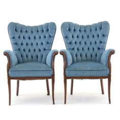 Two 1930's French Art Deco Lounge Chairs