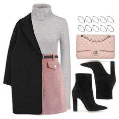A fashion look from February 2018 featuring Michael Kors sweaters, Chicwish mini skirts and Gianvito Rossi ankle booties. Browse and shop related looks. Mode Outfits, Skirt Outfits, Fall Outfits, Fashion Outfits, Fashion Tips, Look Fashion, Korean Fashion, Winter Fashion, Cute Casual Outfits