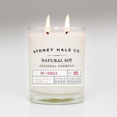 soy candle - FIG and VANILLA on Etsy, $28.00