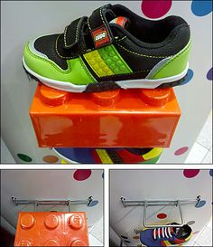 Lego Shoe Ledge as Point-of-Purchase Display Lego Skateboard, Lego Shelves, Shop Display Stands, Lego Blocks, Shoe Display, Point Of Purchase, Skate Shoes, Shoe Brands, Fashion Outfits