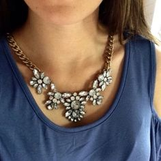 ❗️BESTSELLER❗️ CRYSTAL FLORAL STATEMENT NECKLACE gorgeous! One of my all time best sellers! Add some sparkle to your outfit!! All jewelry is buy 2 get 1 free! Jewelry Necklaces