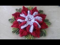 Flor de Crochê Para Aplicação # Cristina Coelho Alves - YouTube