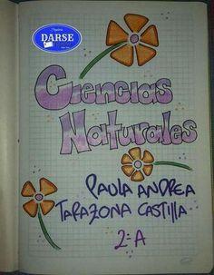 Resultado de imagen para caratulas para cuadernos de secundaria a mano