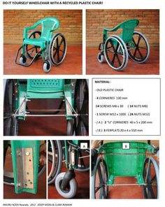 assistive technology diy - DIY Affordable Wheelchairs Made From Reused Plastic Chairs in Rwanda