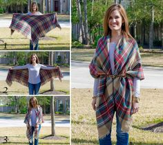 Blanket scarves are so on trend right now and for good reason! They add so much texture, color and warmth to an outfit. Blanket scarves can be worn in many different ways and we wanted to share 4 of our go-to looks using one of our favorite scarves from Accessory Jane (buy …