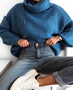 Street style ways to wear an autumn sweater now 2019 - Page 8 of 40 - Sport . - Street style ways to wear an autumn sweater now 2019 – page 8 of 40 – Sports and women - Mode Outfits, Fall Outfits, Casual Outfits, Fashion Outfits, Dress Casual, Fashion Ideas, Fashion Pics, Womens Fashion, Casual Wear