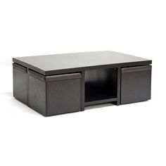 Modern Table and Stool Set with Hidden Storage - $350