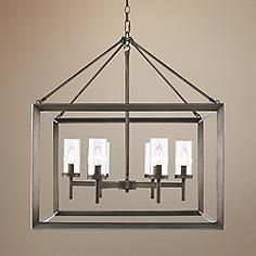 "Smyth 26 3/4"" Wide Gunmetal Bronze Cage Chandelier - Lamps Plus $508"