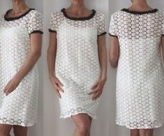 Sewing Pattern - Lace dress for woman Dress Sewing Patterns, Sewing Patterns Free, Clothing Patterns, Simple Dresses, Short Sleeve Dresses, Dress Skirt, Lace Dress, Sewing Online, Costumes Couture