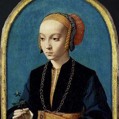 Portret van Elisabeth Bellinghausen (1493-1555) / Bartholomäus Bruyn (I), 1538 - 1539
