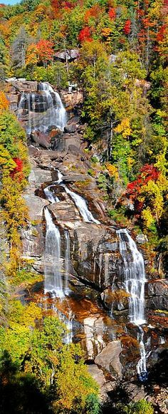 Whitewater Falls, cerca de Saphire, Carolina del Norte, EE.UU.
