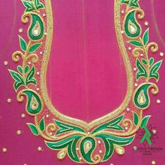Kids Blouse Designs, Blouse Designs Silk, Wedding Saree Blouse Designs, Saree Wedding, Aari Work Blouse, Blouse Neck, Mirror Work, Embroidered Blouse, Krishna