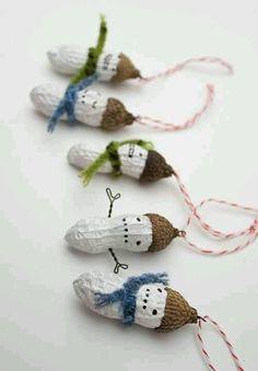Peanut snowmen