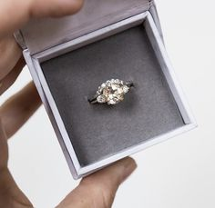 Love the ring and wedding band idea. Swap pink and white stones.