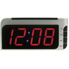 "Elgin Electric Alarm Clock AutoTimeSet Dimmer 2"" Display New Free US Shipping"
