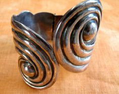 Taxco Mexico Sterling Swirl Clamper