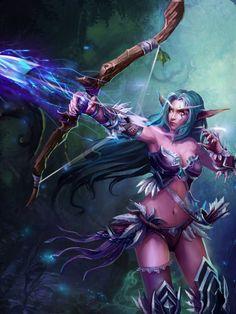 Night Elf Hunter #warcraft #legion #WoW