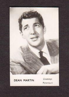 Dean Martin Vintage 1960 Movie Film Star British FPF Card