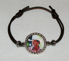 George Strait Adjustable Leather Pendant Photo by DixonsJewelry, $8.99